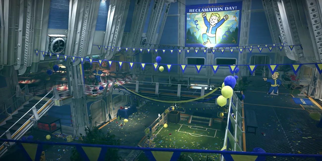 Fallout 76 Bethesda Reclamation Day Survival Shooter Base Building