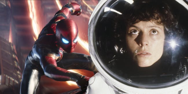 Spider-Man and Ripley from 'Aliens'