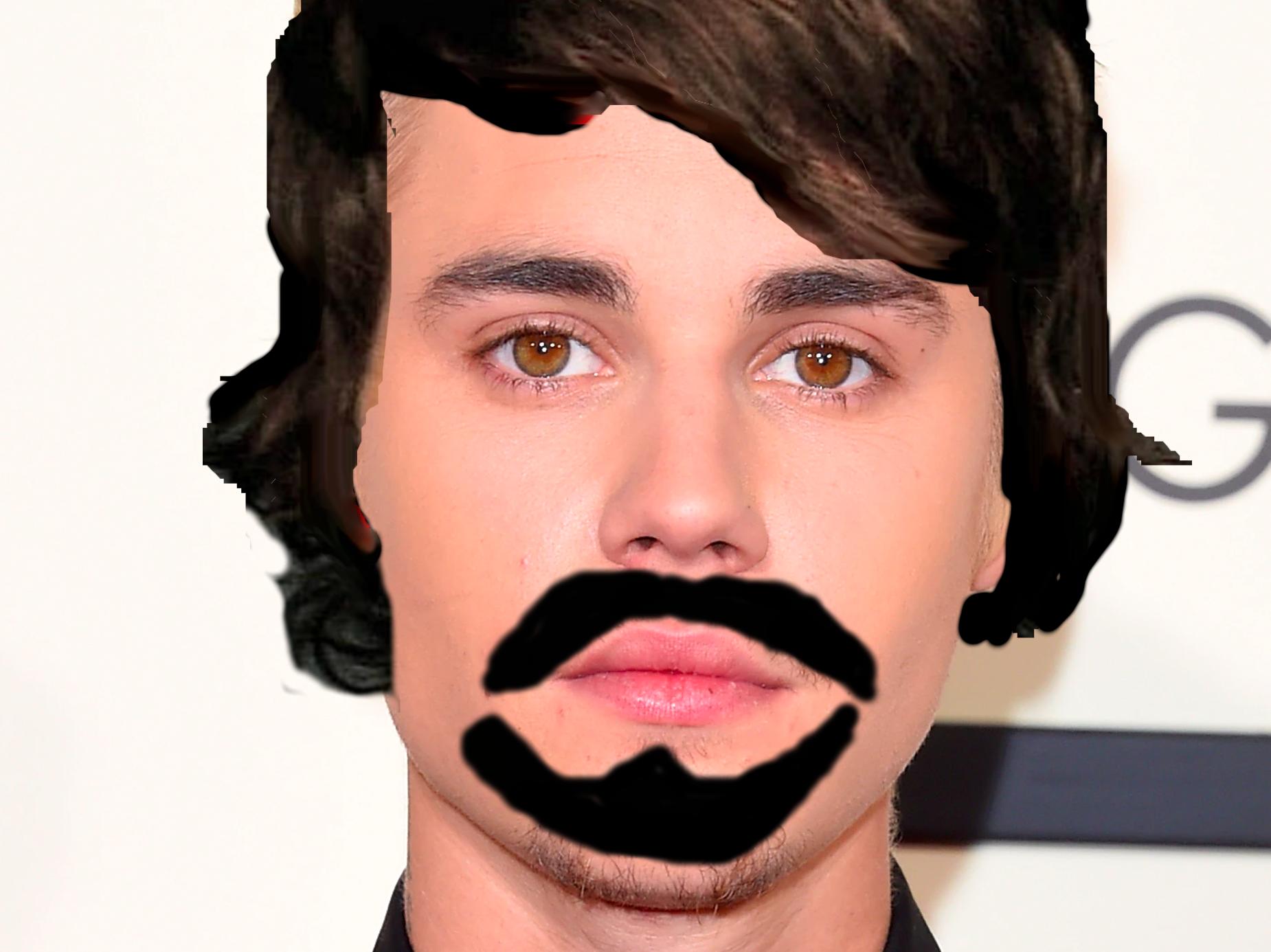 Justin Bieber's Dumb Mustache-Wig Disguise: Not That Dumb