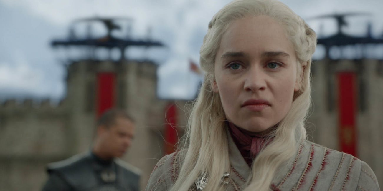 Emilia Clarke in 'Game of Thrones' Season 8, Episode 4 final scene Missandei's death