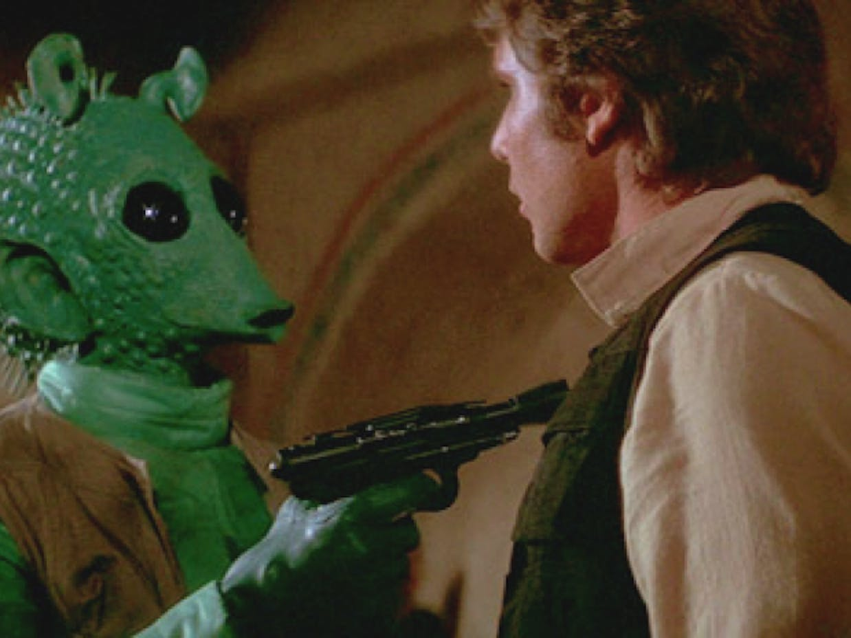 Han Solo and Greedo -- 'Star Wars: A New Hope'