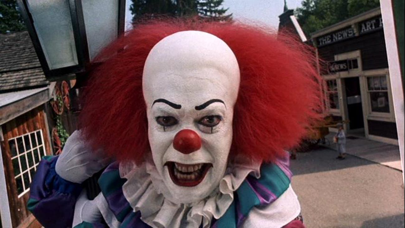 Tim Curry as Pennywise in 'It' (1990)