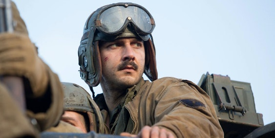 Shia LaBeouf in David Ayer's 'Fury'