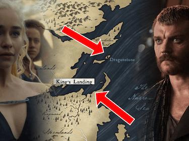 Emilia Clarke and Pilous Asbaek in 'Game of Thrones'  Season 7