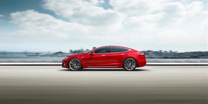 Tesla Model S profile shot