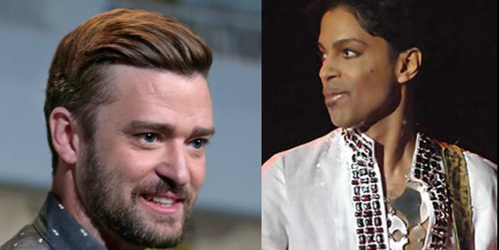 Prince and Justin Timberlake