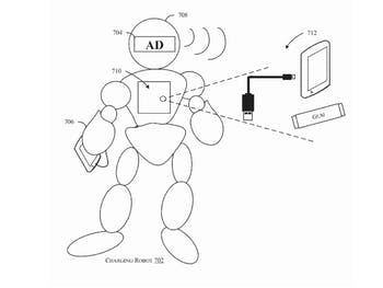 amazon patent drawing robot charge charger cell phone battery