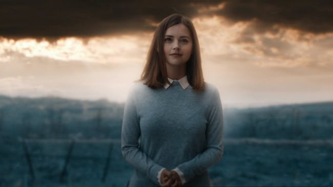 Clara appears as a glass avatar composed of her real memories.