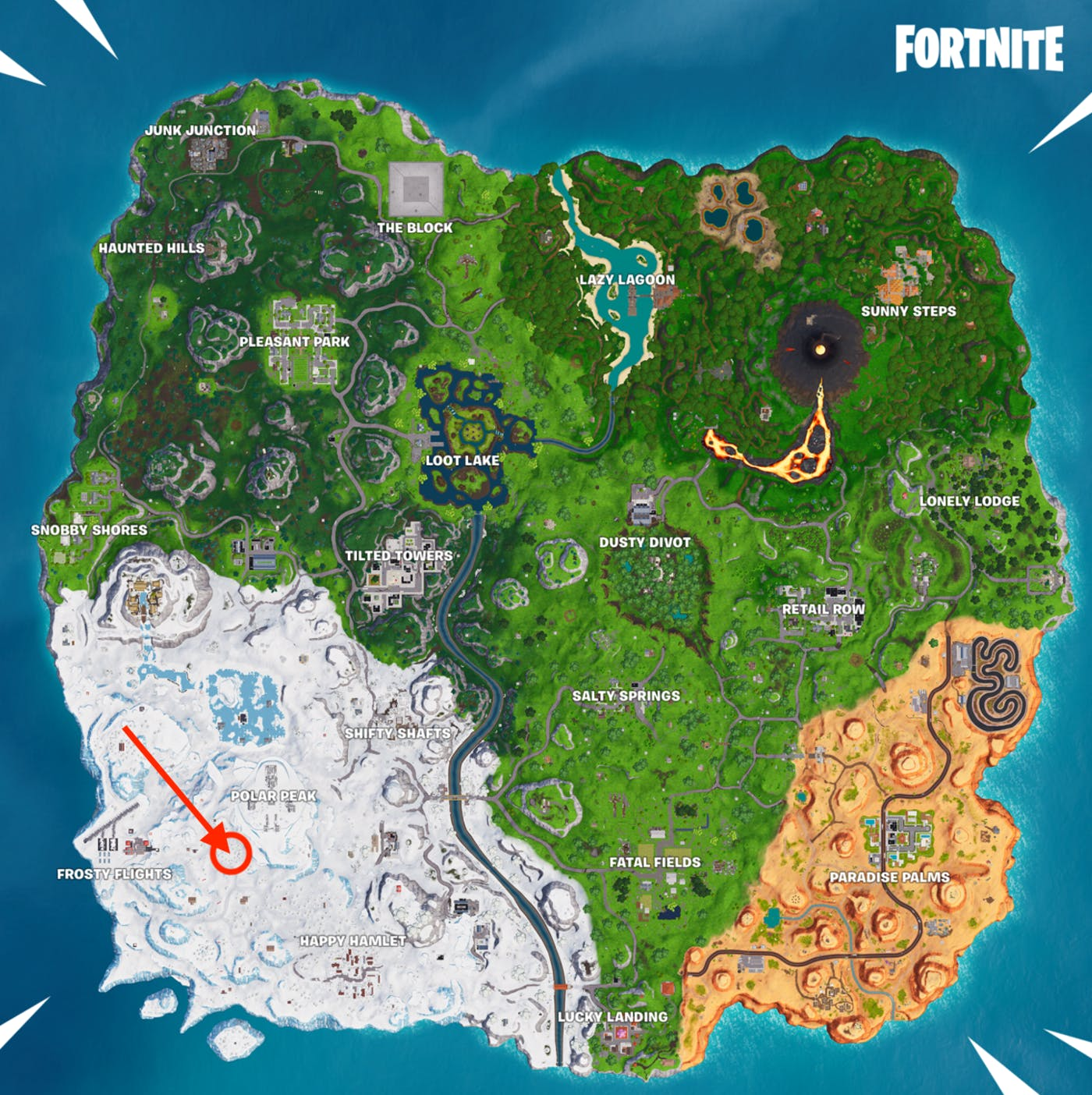 Fortnite' Week 3: Where the Magnifying Glass Sits on the Treasure