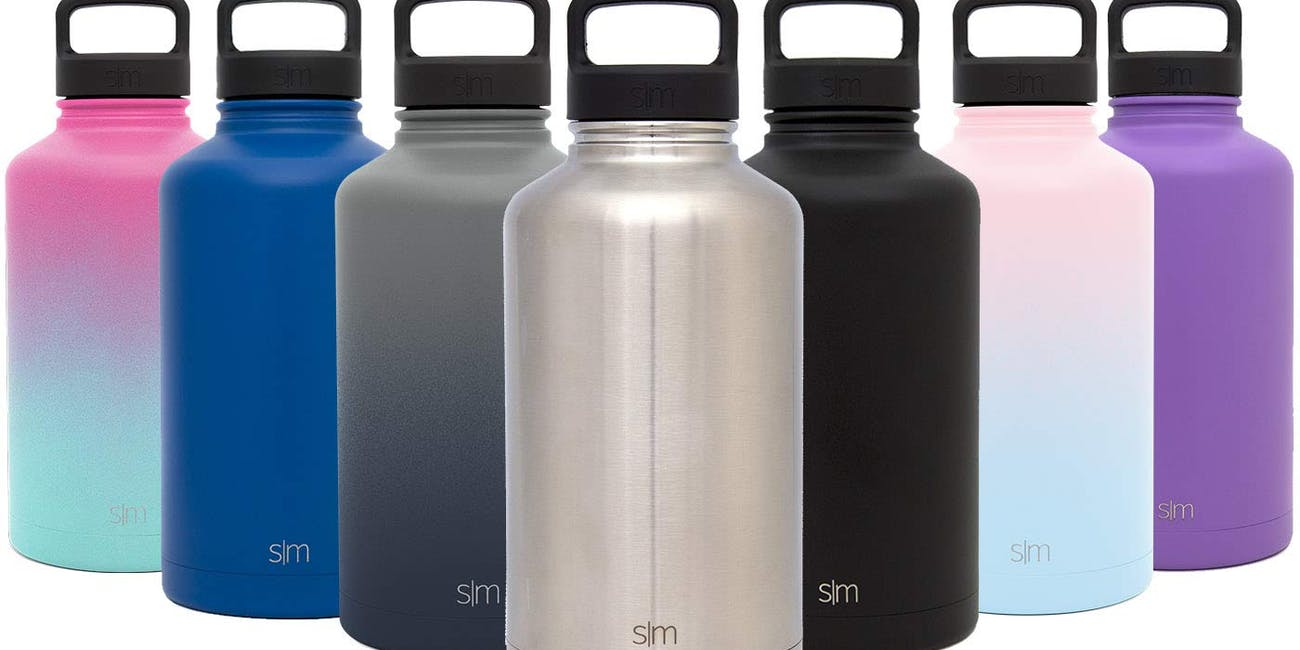 Simple Modern 40oz, Summit Water Bottle + Extra Lid - Wide Mouth Vacuum Insulated 18/8 Stainless Steel Powder Coated