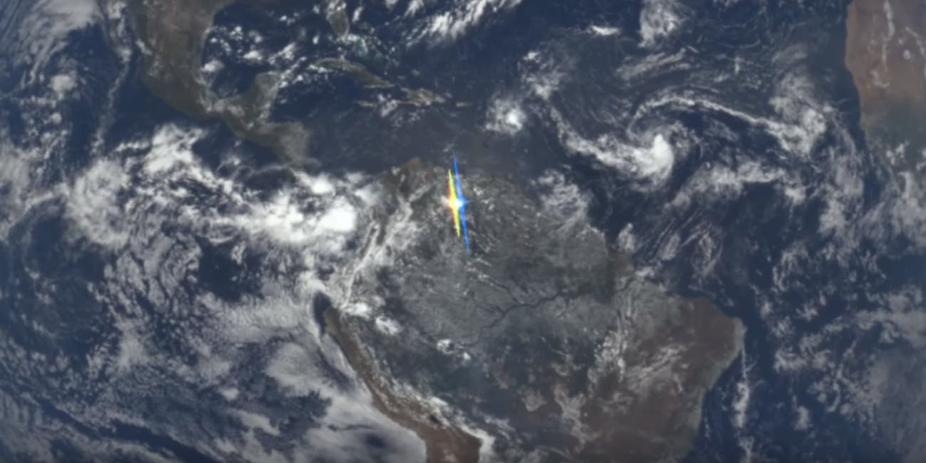 NASA Ice Particle Reflections over South America