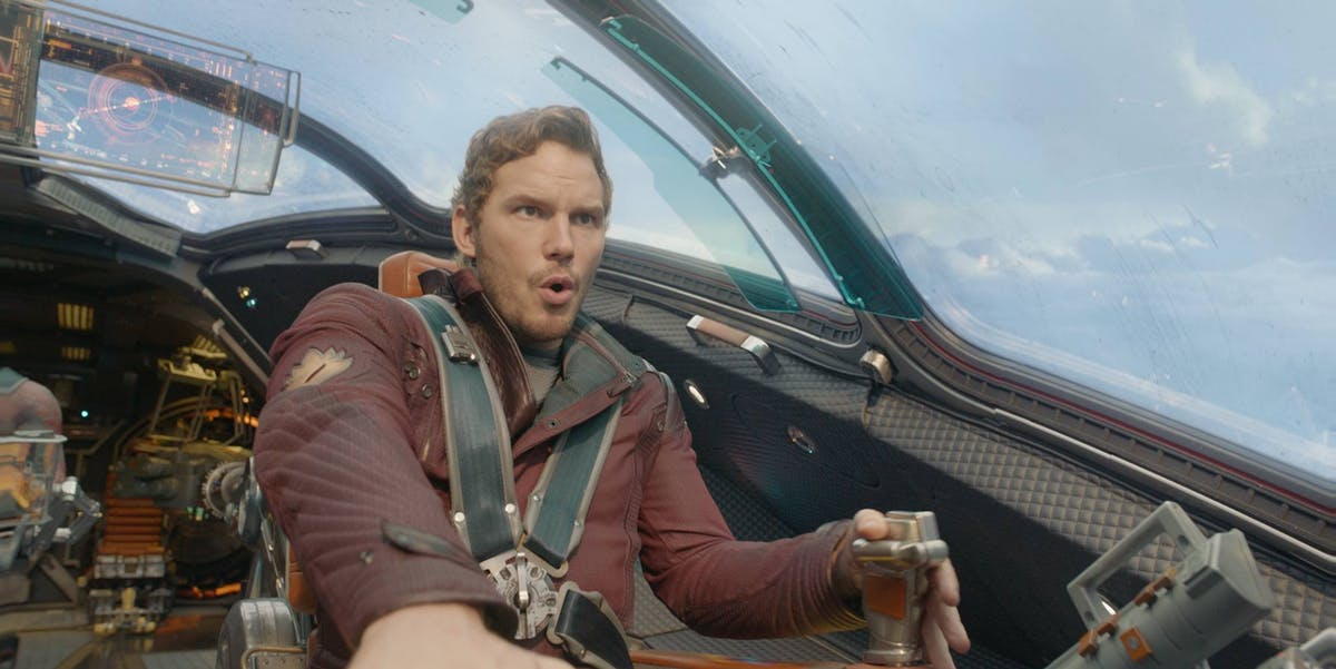 Chris Pratt as Peter Quill and Star-Lord in 'Guardians of the Galaxy Vol 2.'
