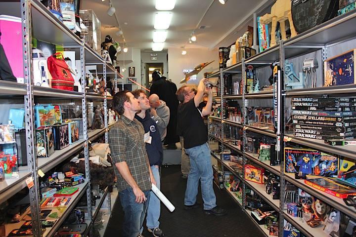 One room at Rancho Obi-Wan among Sansweet's 350,000 collectibles.