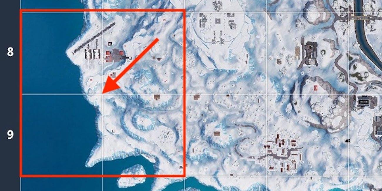 Fortnite Snowfall Week 8 Hidden Banner