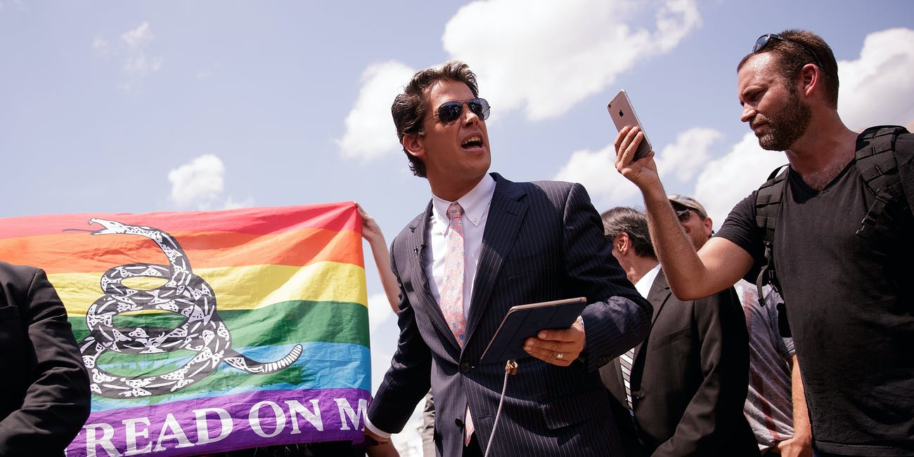 Milo Yiannopoulos holds a press conference following the shooting at Pulse night club in Orlando