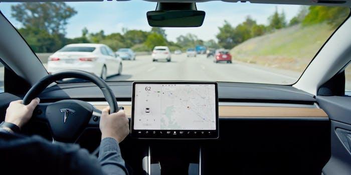 Tesla Model 3 Autopilot interior car