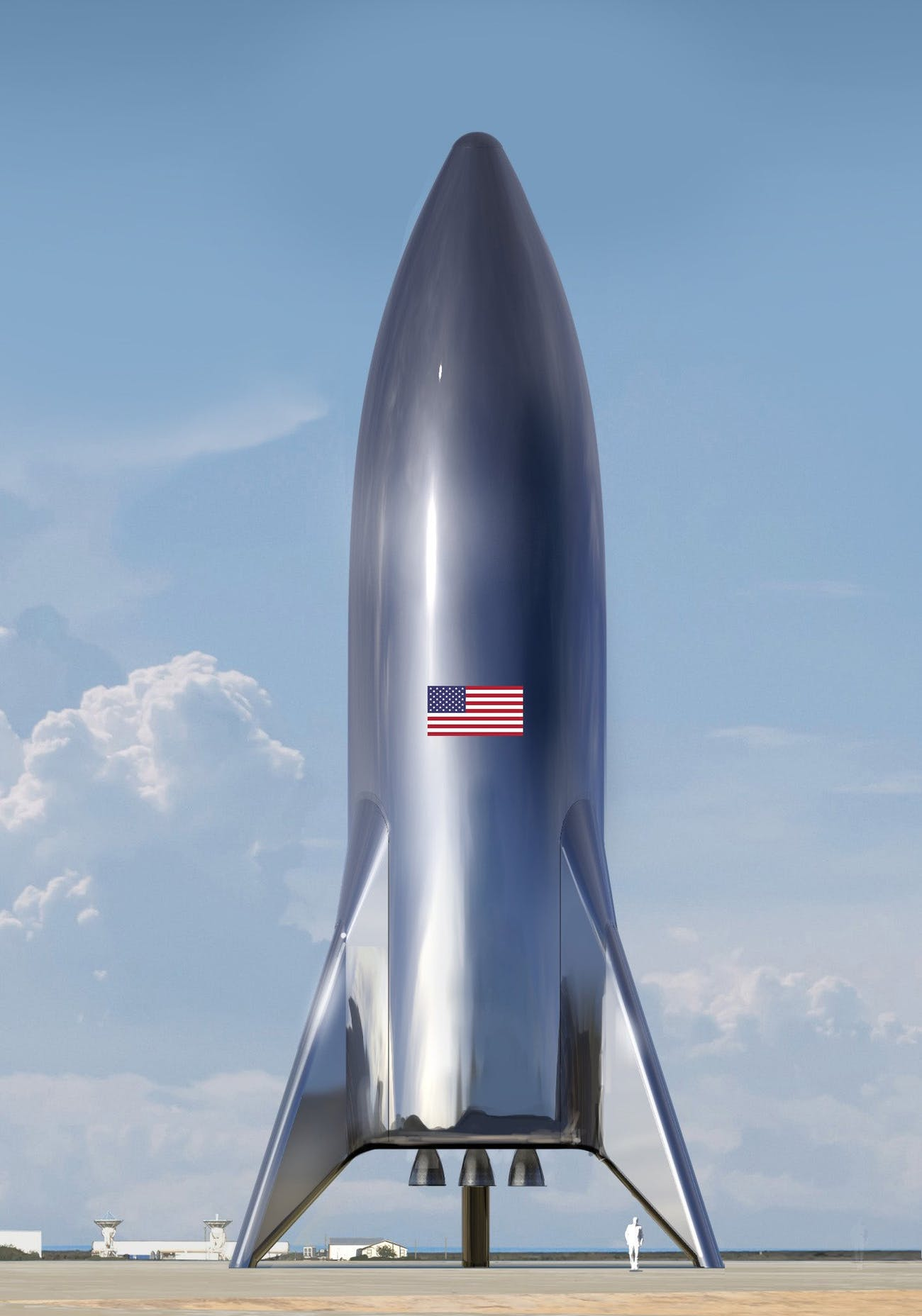 Spacex Starship Elon Musk Reveals The Incredible Sci Fi Design For