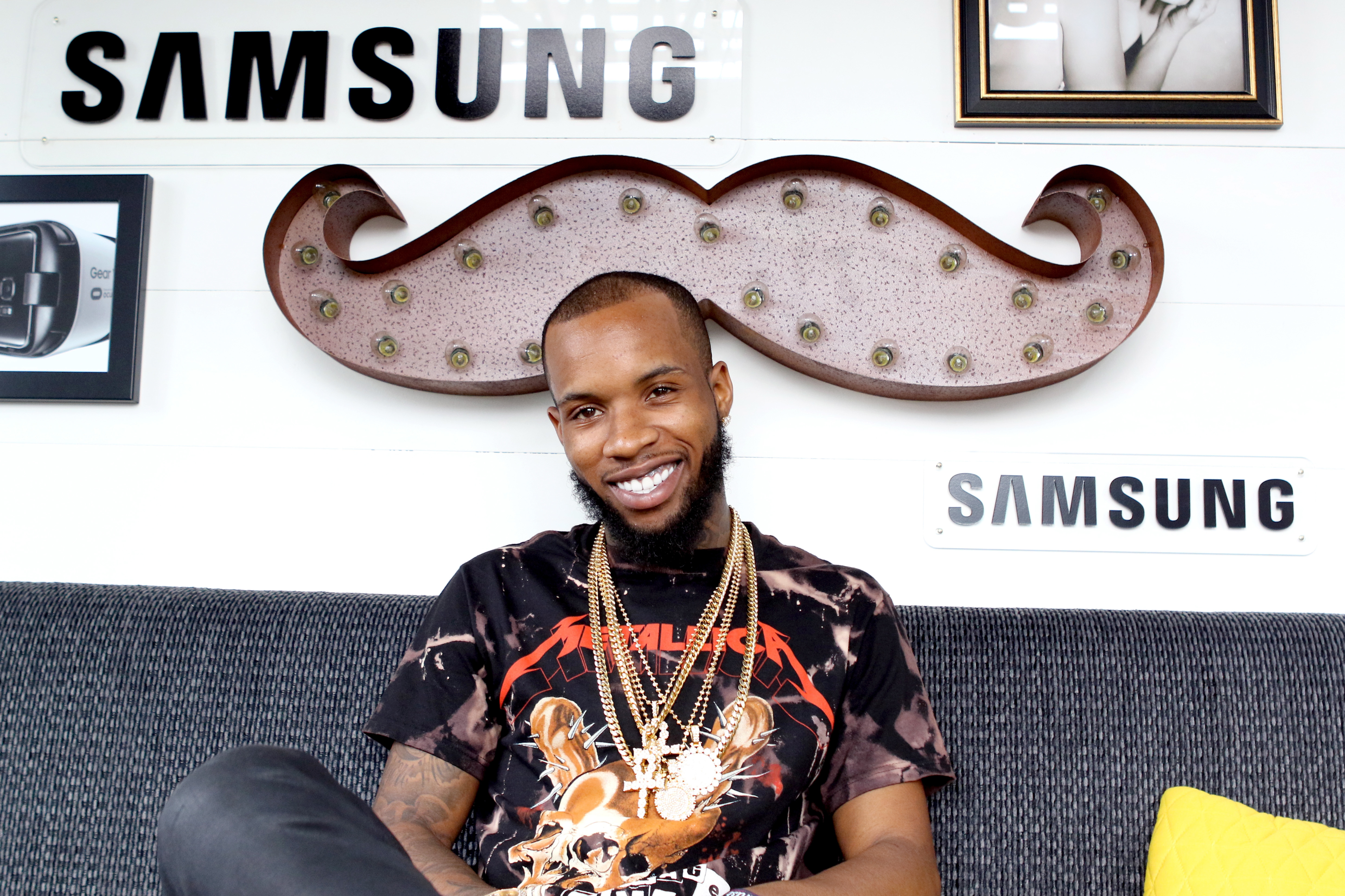 CHICAGO, IL - JULY 30:  Rapper Tory Lanez is seen at the Samsung Creator's Lab at Lollapalooza 2016 - Day 3 at Grant Park on July 30, 2016 in Chicago, Illinois.  (Photo by Gabriel Grams/Getty Images for Samsung)