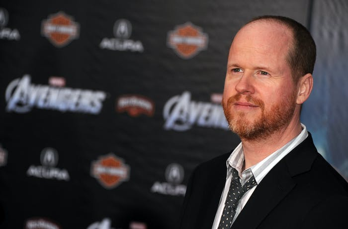 Joss Whedon arrives at the 'Avengers' premiere.