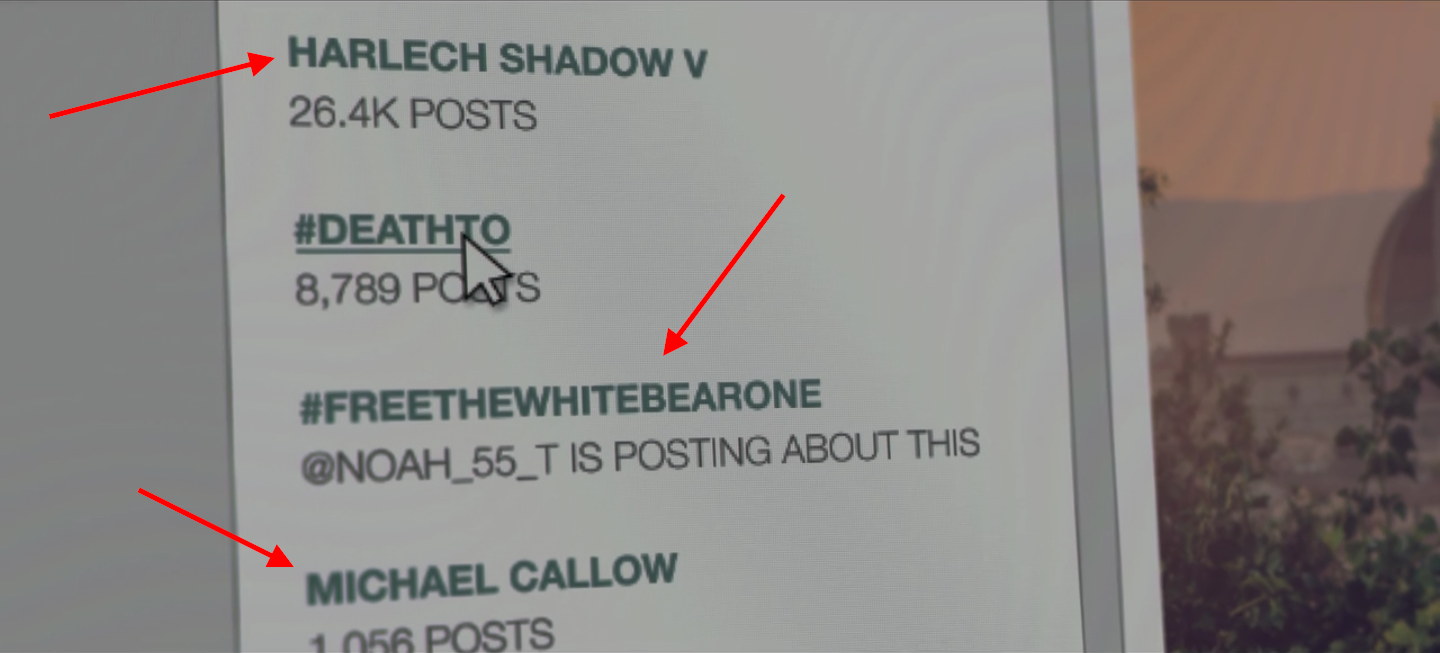"Easter eggs in ""Hated in the Nation"" from ""Playtest"", ""White Bear"", and ""The National Anthem""."