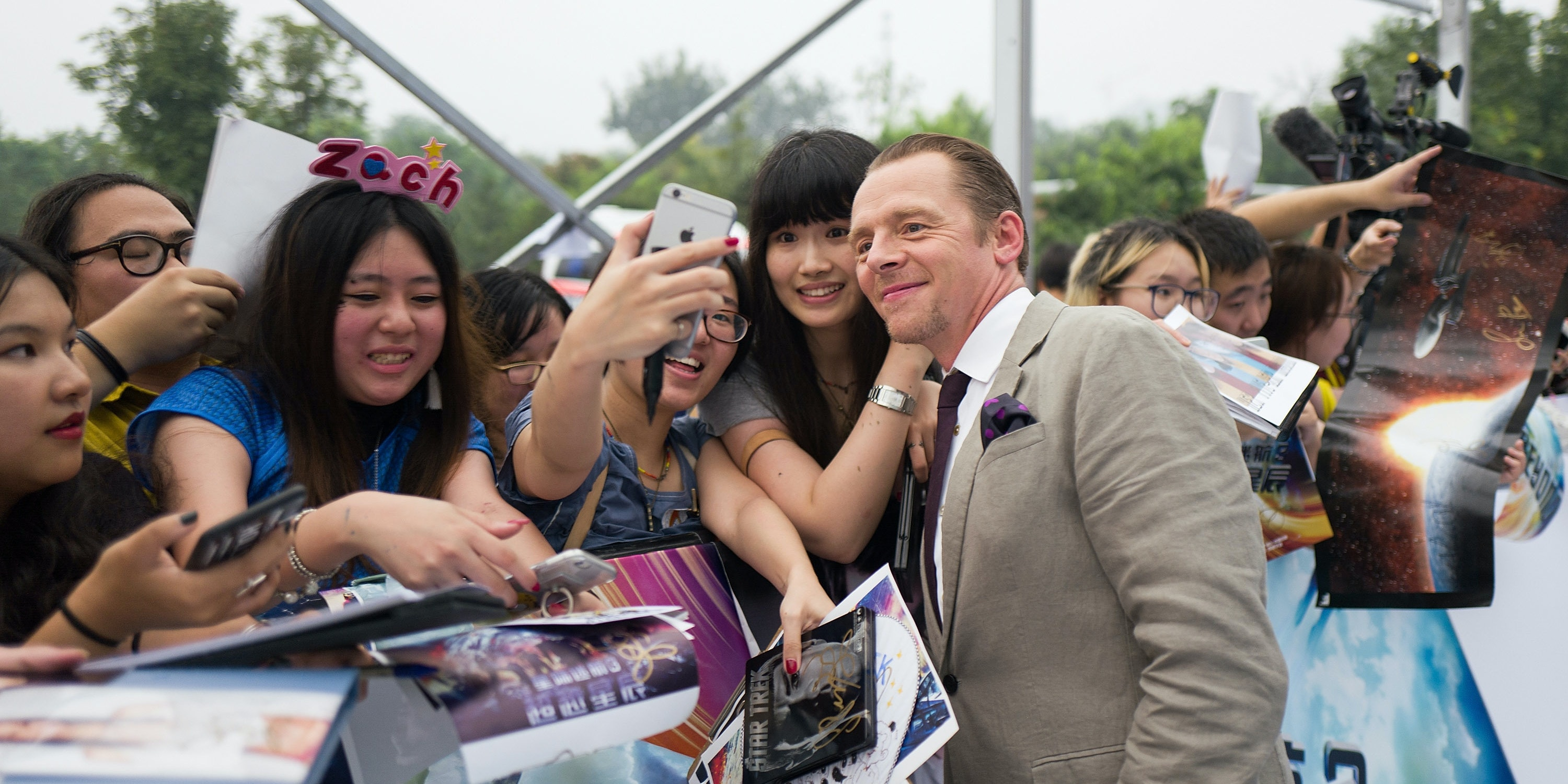 BEIJING, CHINA - AUGUST 18:  Actor Simon Peg attends the red carpet event of the Paramount Pictures title 'Star Trek Beyond' on August 18, 2016 at Indigo Mall in Beijing, China.  (Photo by Xiaolu Chu/Getty Imagesfor Paramount Pictures)