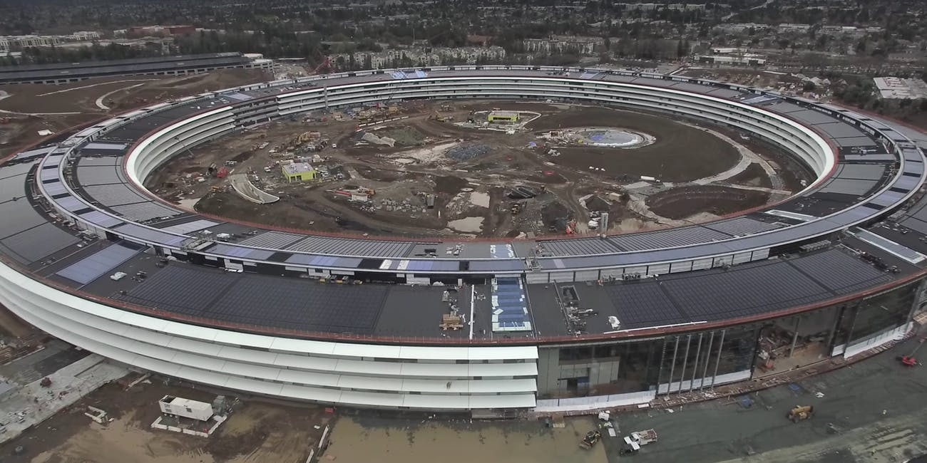 New Drone Footage of Apple's Campus Shows Construction Moving Along