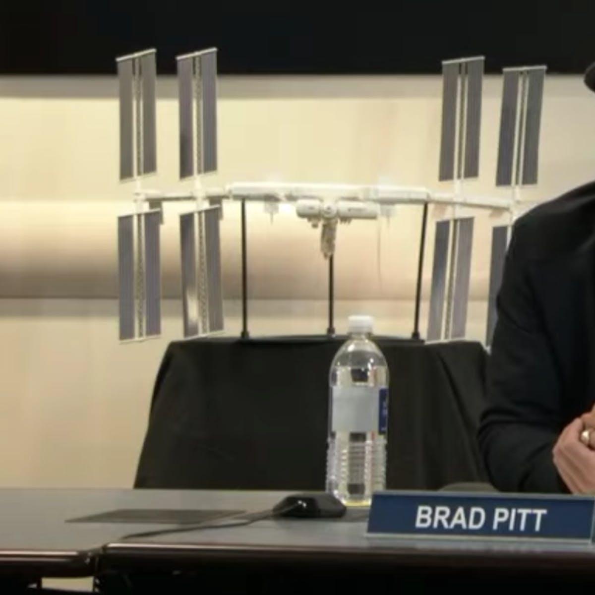 'Ad Astra' Star Brad Pitt Asks NASA Astronaut: Clooney or Pitt?
