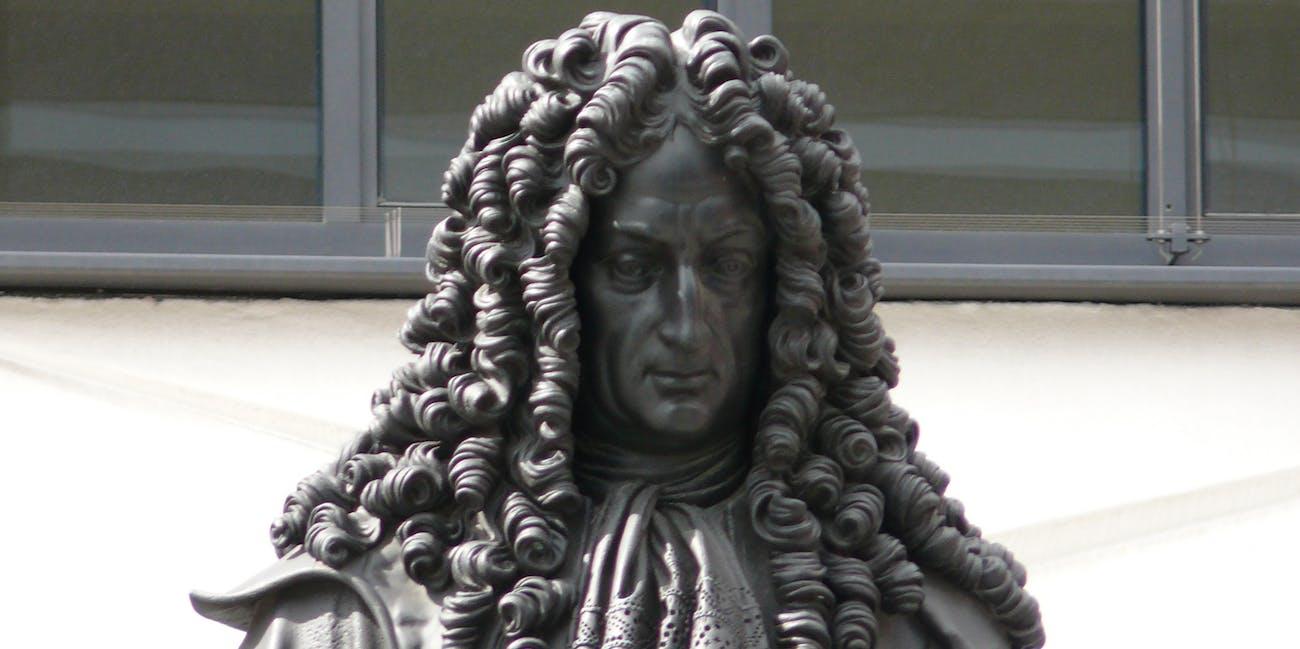 Leipzig Leibniz Denkmal 02