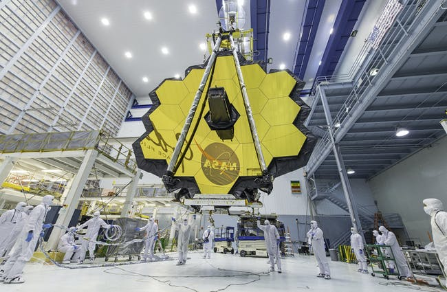 Gold is highly reflective and doesn't tarnish—great for the James Webb Space Telescope's main mirror but also to block radiant heat from instruments in the telescope's interior.