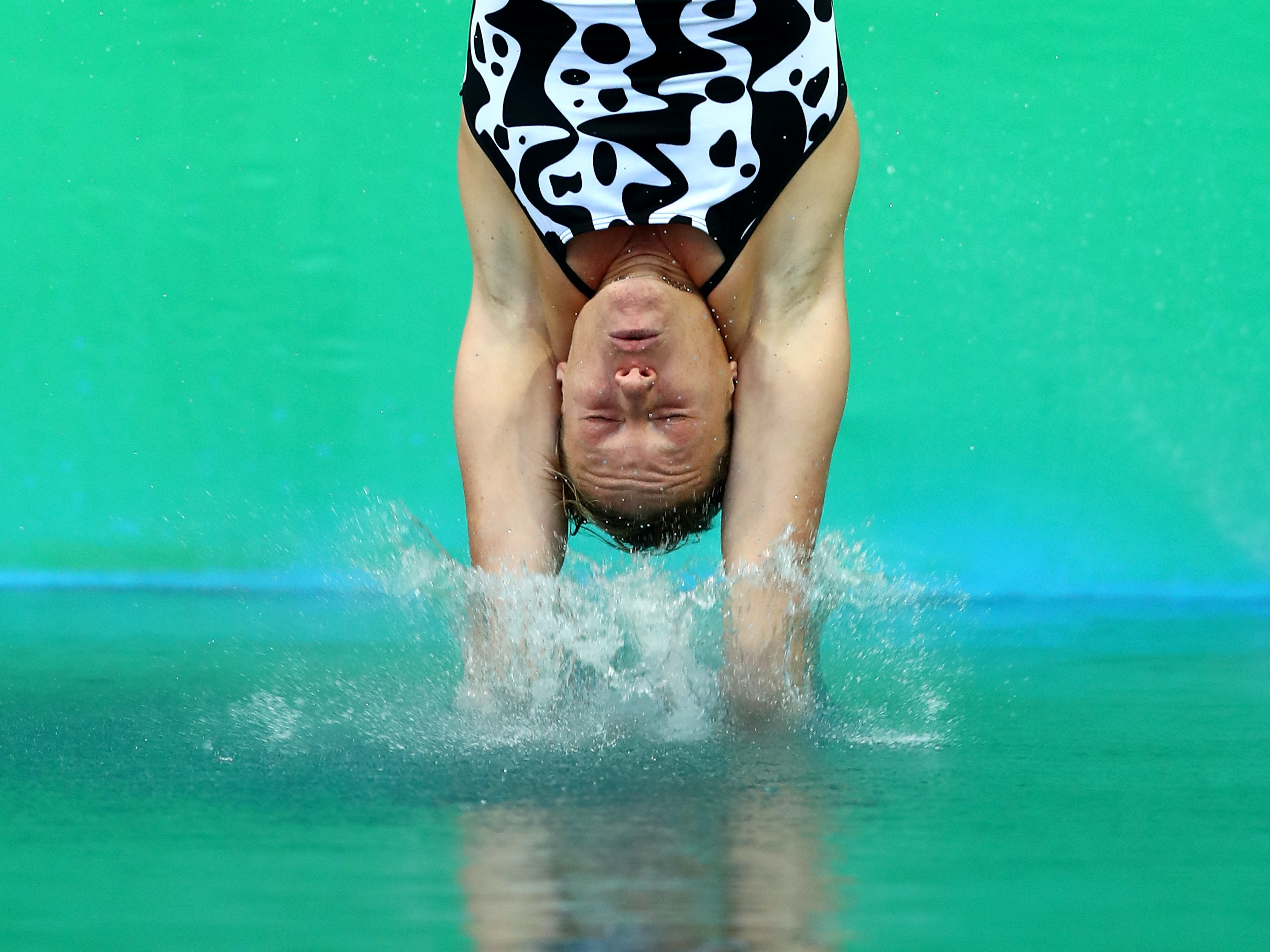 RIO DE JANEIRO, BRAZIL - AUGUST 12:  Maria Elisabetta Marconi of Italy competes in the Women's Diving 3m Springboard Preliminary Round on Day 7 of the Rio 2016 Olympic Games at Maria Lenk Aquatics Centre on August 12, 2016 in Rio de Janeiro, Brazil.  (Photo by Dean Mouhtaropoulos/Getty Images)