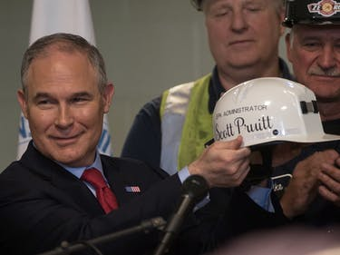 scott pruitt epa environment coal miners
