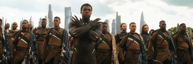 Tons of heroes rally at Wakanda in the 'Infinity War' trailer.