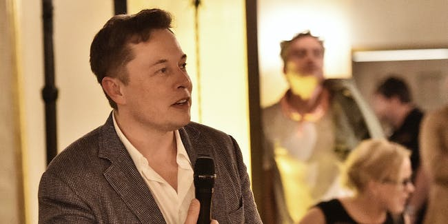 Elon Musk attends The Dinner For Equality co-hosted by Patricia Arquette and Marc Benioff in Beverly Hills, California.