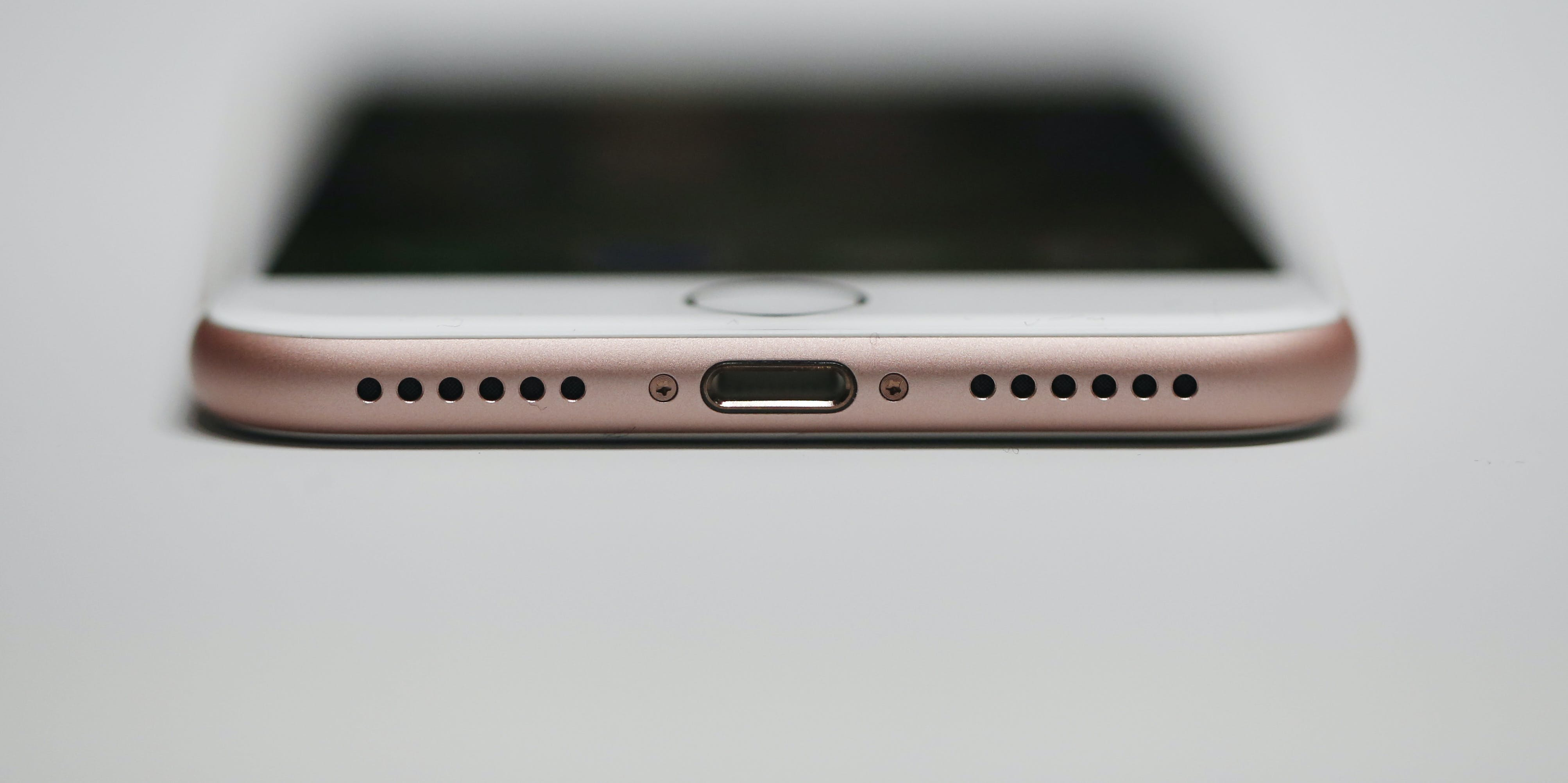 A new Apple iPhone 7 is seen during a launch event on September 7, 2016 in San Francisco, California. Apple Inc. unveiled the latest iterations of its smart phone, the iPhone 7 and 7 Plus, the Apple Watch Series 2, as well as AirPods, the tech giant's first wireless headphones.