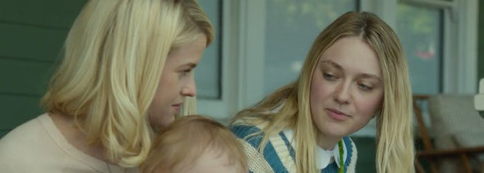 Alice Eve and Dakota Fanning in 'Please Stand By'