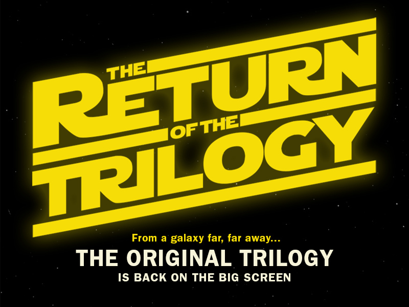 The original trilogy is (kind of) back on the big screen.