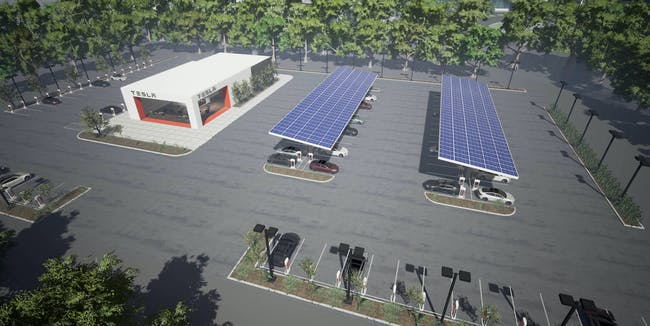 Concept for Tesla Supercharging Station