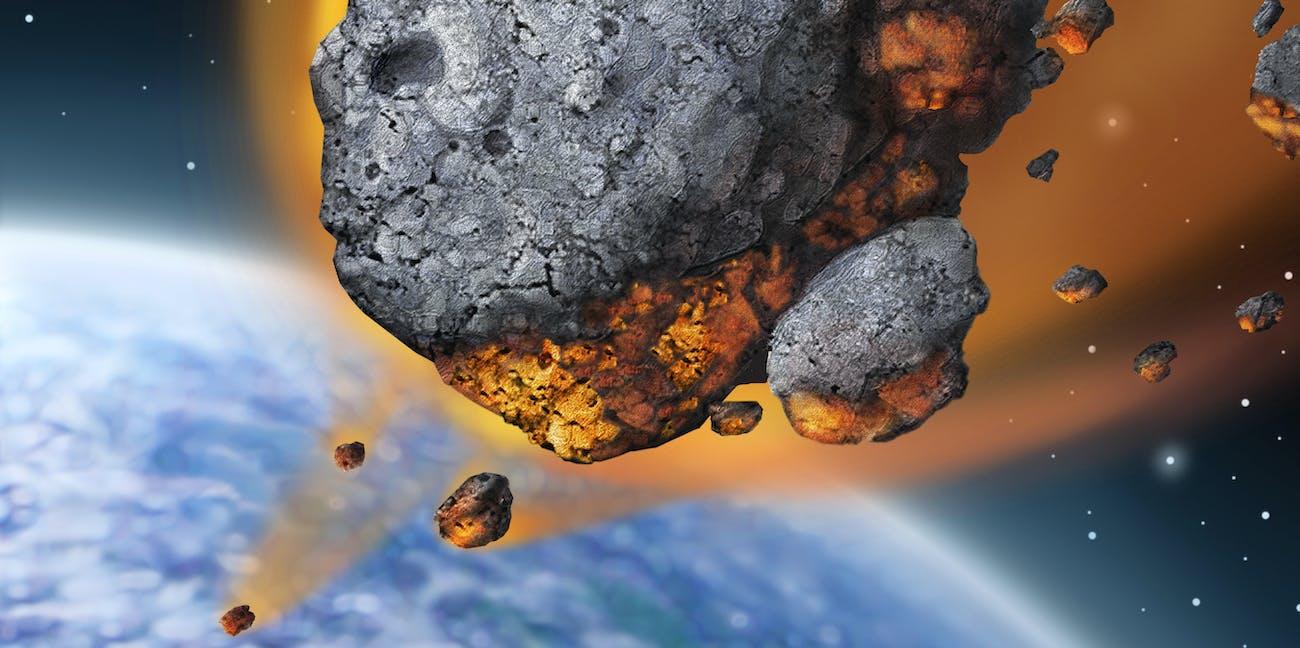 Meteor falling to Earth