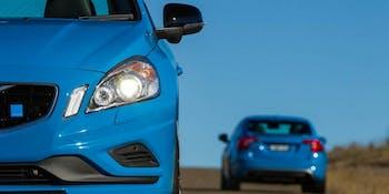 Polestar blue Volvo car speed electric