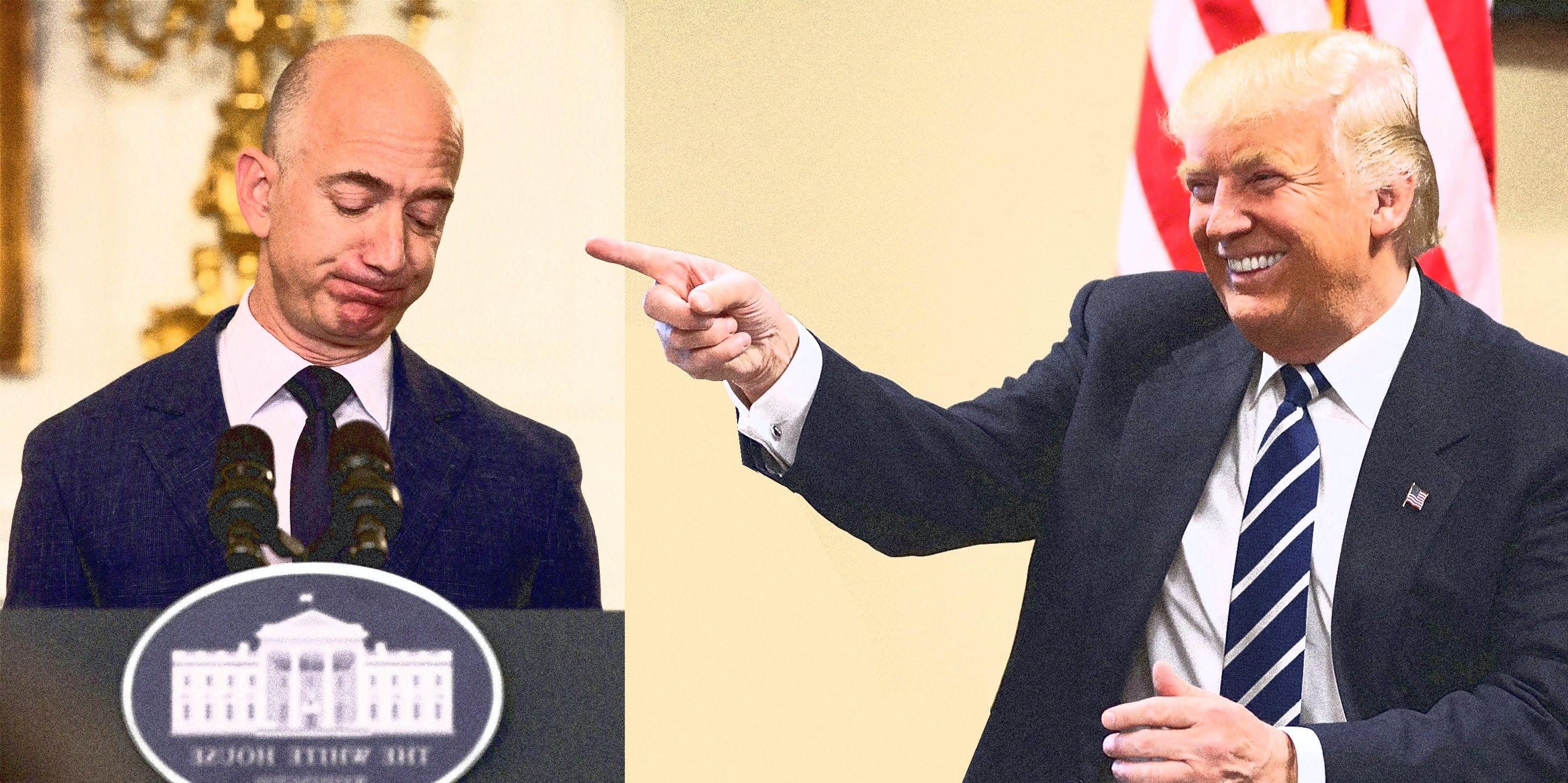 "Amazon's Jeff Bezos Congratulates Trump a Year After the ""Space"" Tweet"