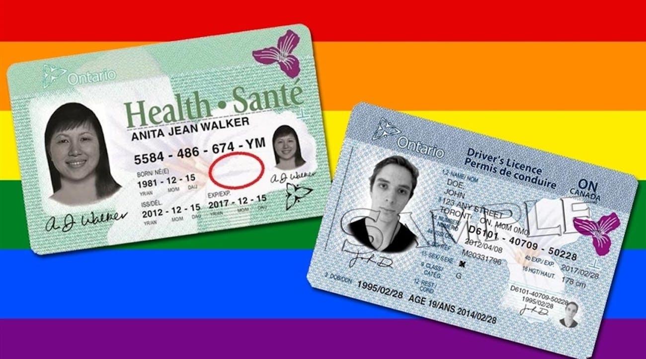 gender neutral id card