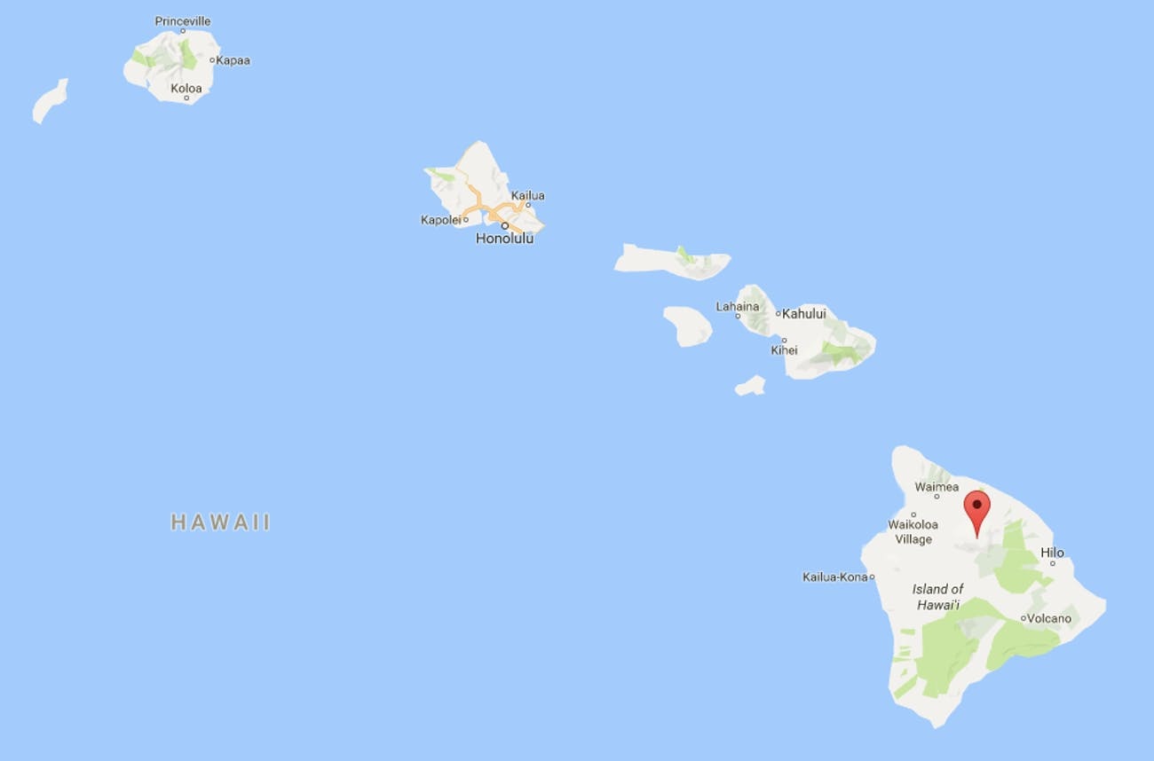 mauna kea hawaii map