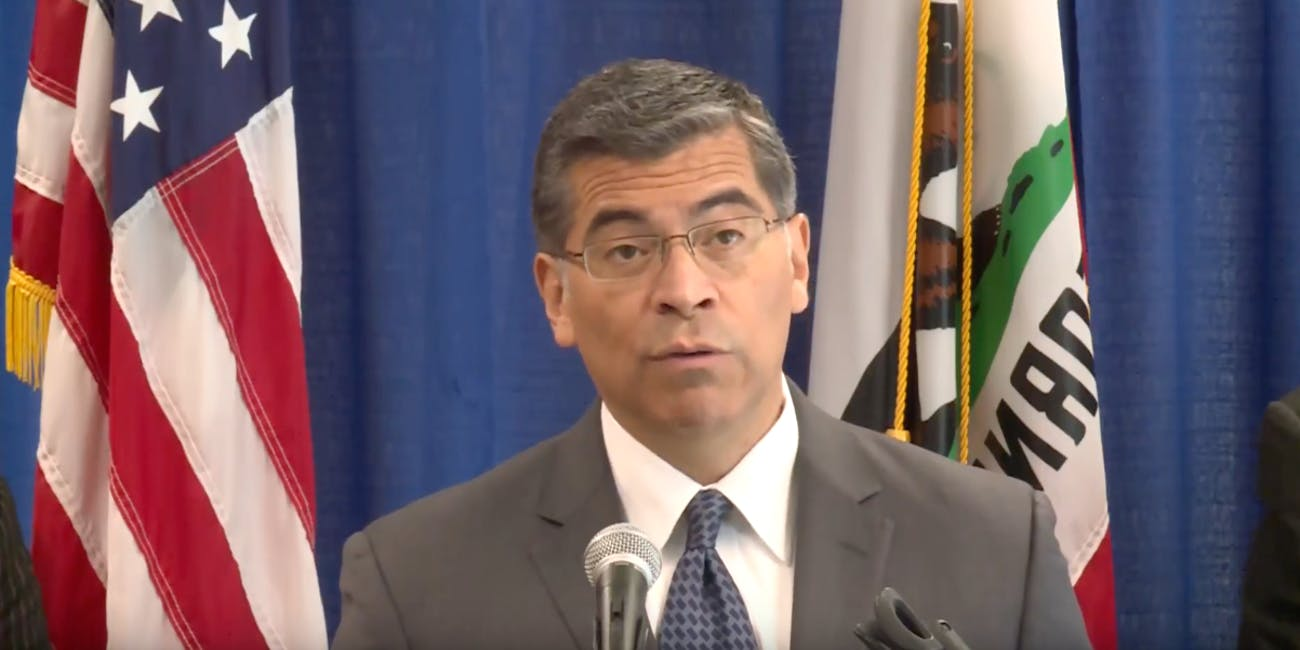 California Attorney General Xavier Becerra announced the state would receive more than $26 million