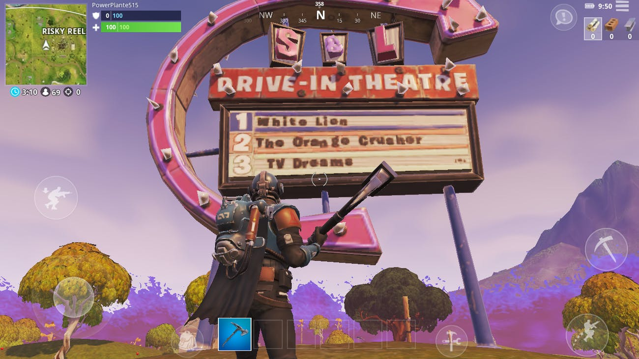 'Fortnite: Battle Royale' search between movie titles.
