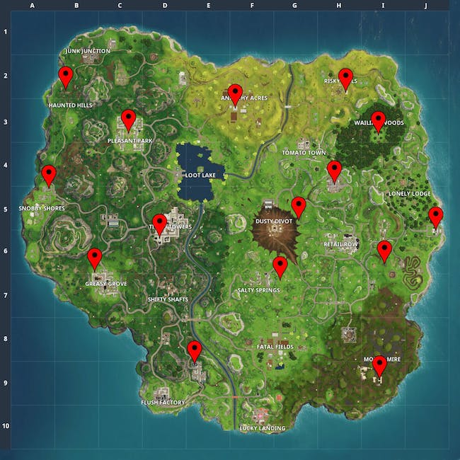 Fortnite Letter Location How To Find F O R T N I T E In Week 1