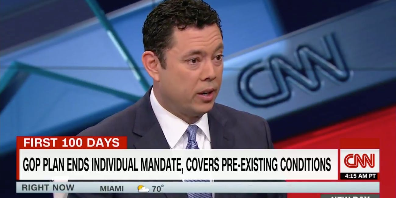 Utah Republican Congressman Jason Chaffetz, defending the GOP healthcare plan, said that lower income people shouldn't buy iPhones, they should buy health insurance.