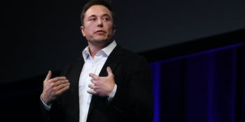 SpaceX CEO Elon Musk speaks at the International Astronautical Congress on September 29, 2017 in Adelaide, Australia