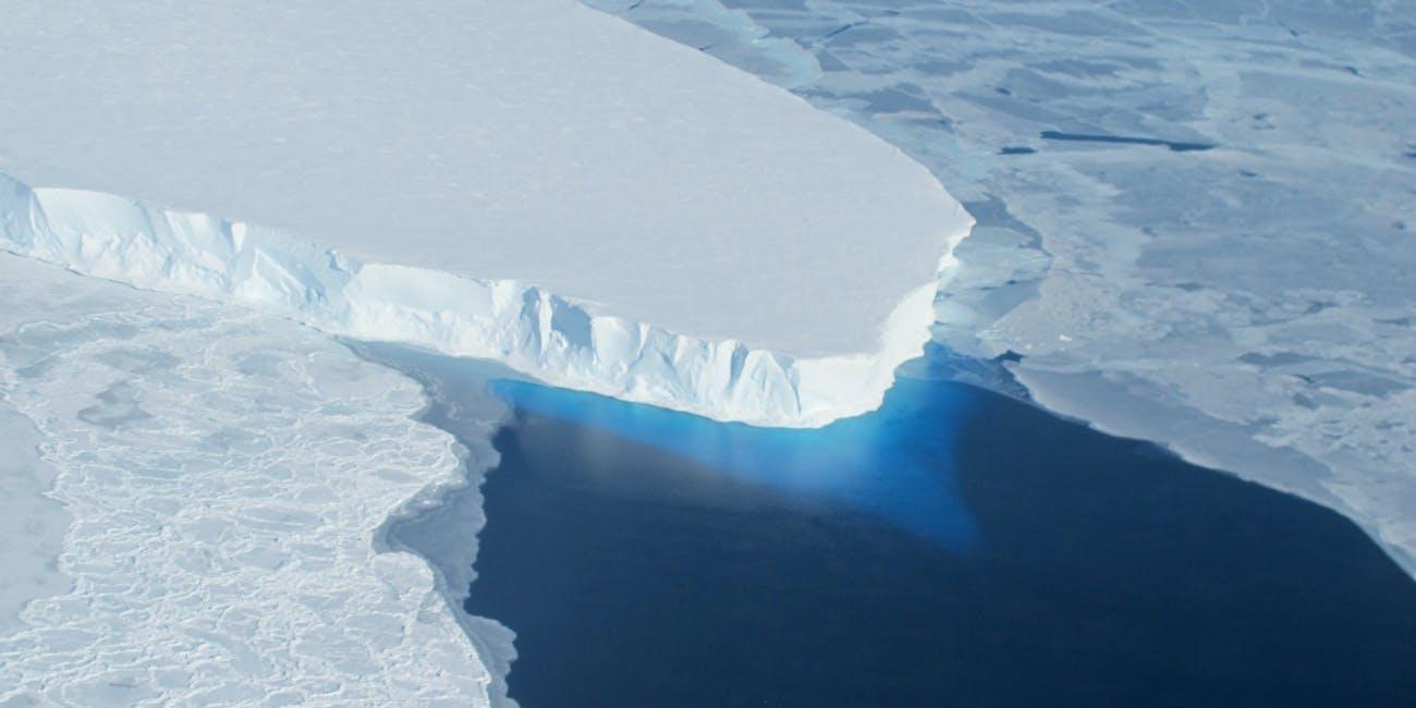 The Thwaites Glacier, part of the West Antarctic Ice Sheet.The Thwaites Glacier, part of the West Antarctic Ice Sheet.