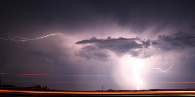 West Texas Lightning Storm