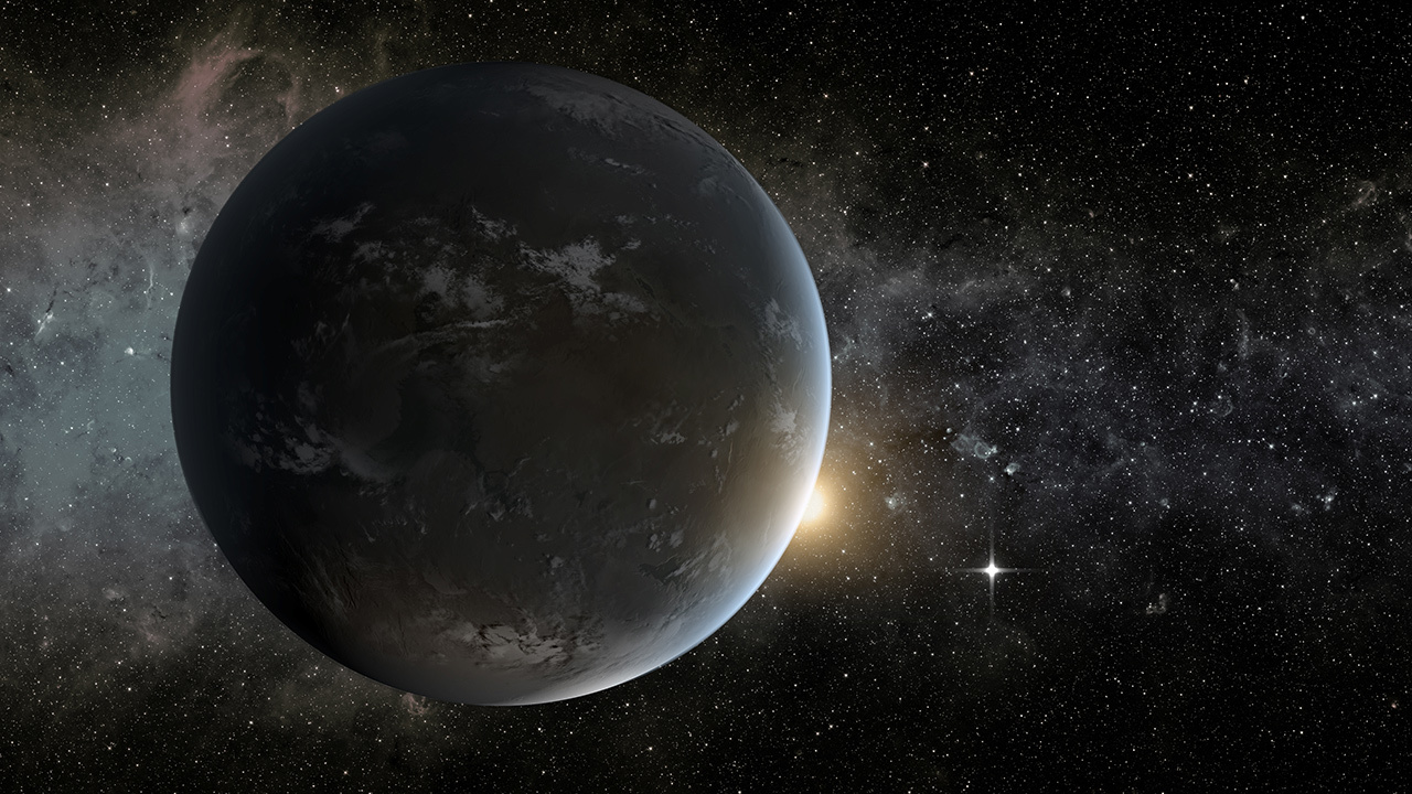 An artist's concept of Kepler-132 e, an Earth sized exoplanet that astronomers still don't know much about.